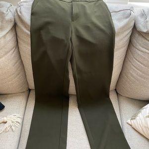 Banana Republic olive wide leg trouser
